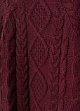 Женский джемпер H&M бордовый M, фото 2