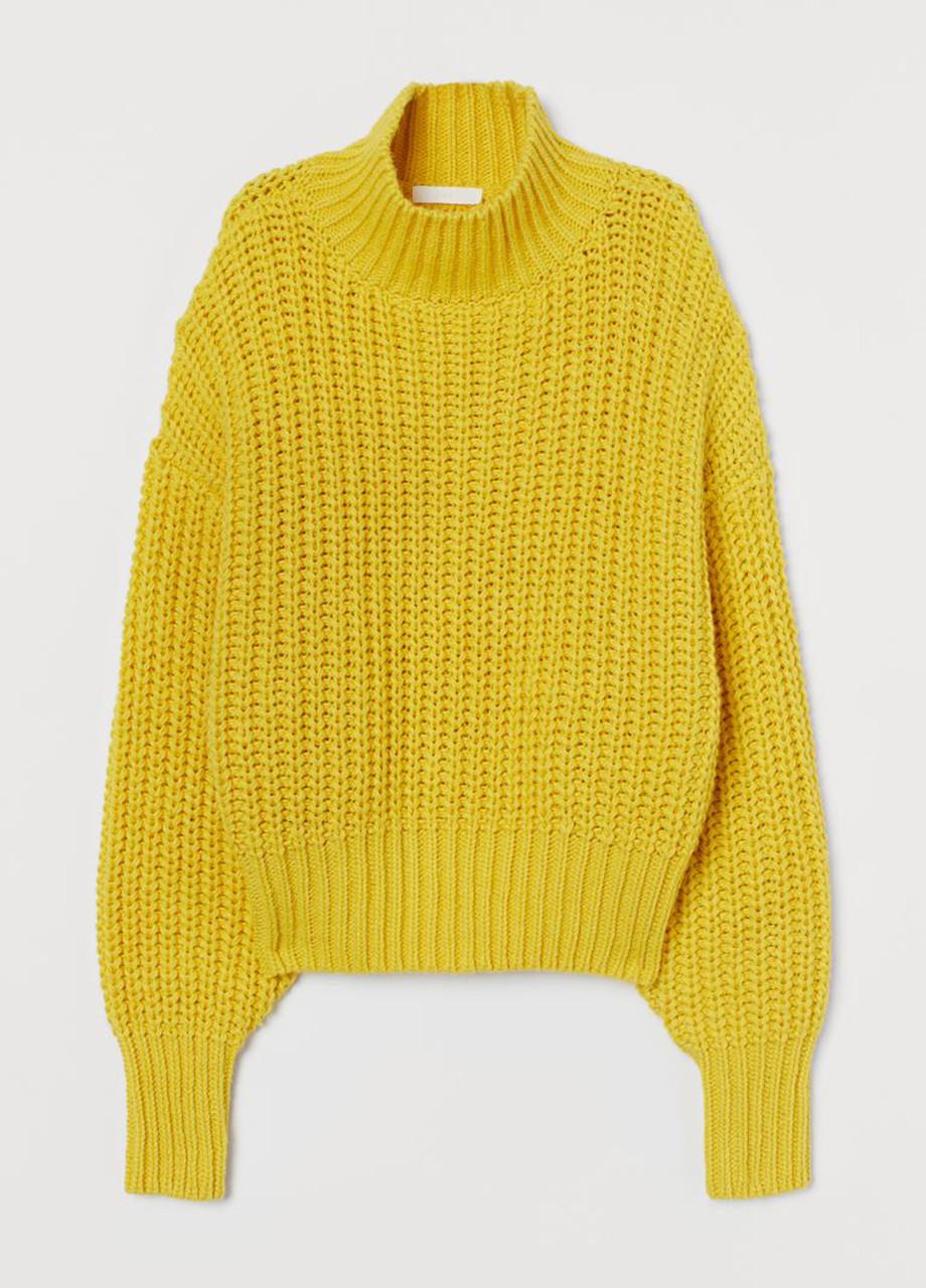 Женский свитер H&M желтый M