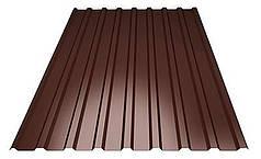 Профнастил покрівельний ПК-20 шоколадний товщина 0,30 розмір 1,5Х1,16м