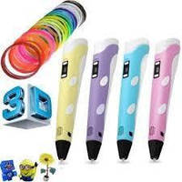 3д ручка для детей + 20 м пластика 3D ручка c LCD дисплеем набор для творчества