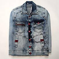 Детская джинсовая куртка для мальчика пиджак 5-6 лет, фото 3