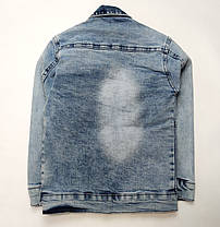 Детская джинсовая куртка для мальчика пиджак 5-6 лет, фото 2