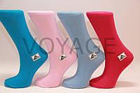 Женские носки высокие стрейчевые гладкие Житомир  35-41 яркие ассорти