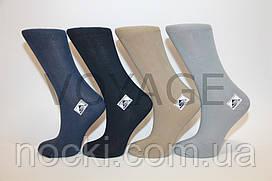 Жіночі шкарпетки високі стрейчеві гладкі Житомир 35-41 темні асорті