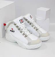 Стильные и модные белые кроссовки K635-1 белый