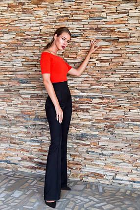 Штани жіночі кльош з високою талією AniTi 121, чорний, фото 2
