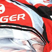 Велокостюм X-Тiger QT/T1616 Red XXL футболка короткий рукав + шорты, фото 3