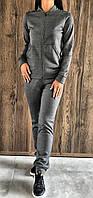 Теплый женский костюм кофта и штаны с люрексом