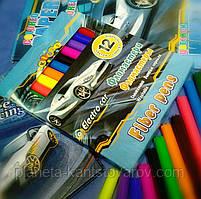 Фломастеры смываемые 12 цветов в картонной коробке 13353