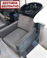 Мойка парикмахерская с креслом для салона красоты Shelley Dioni V.M.керамическая раковина+ комплект сантехники