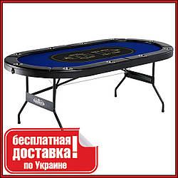 Складной покерный стол Ante на 10 игроков с встроенными держателями для напитков