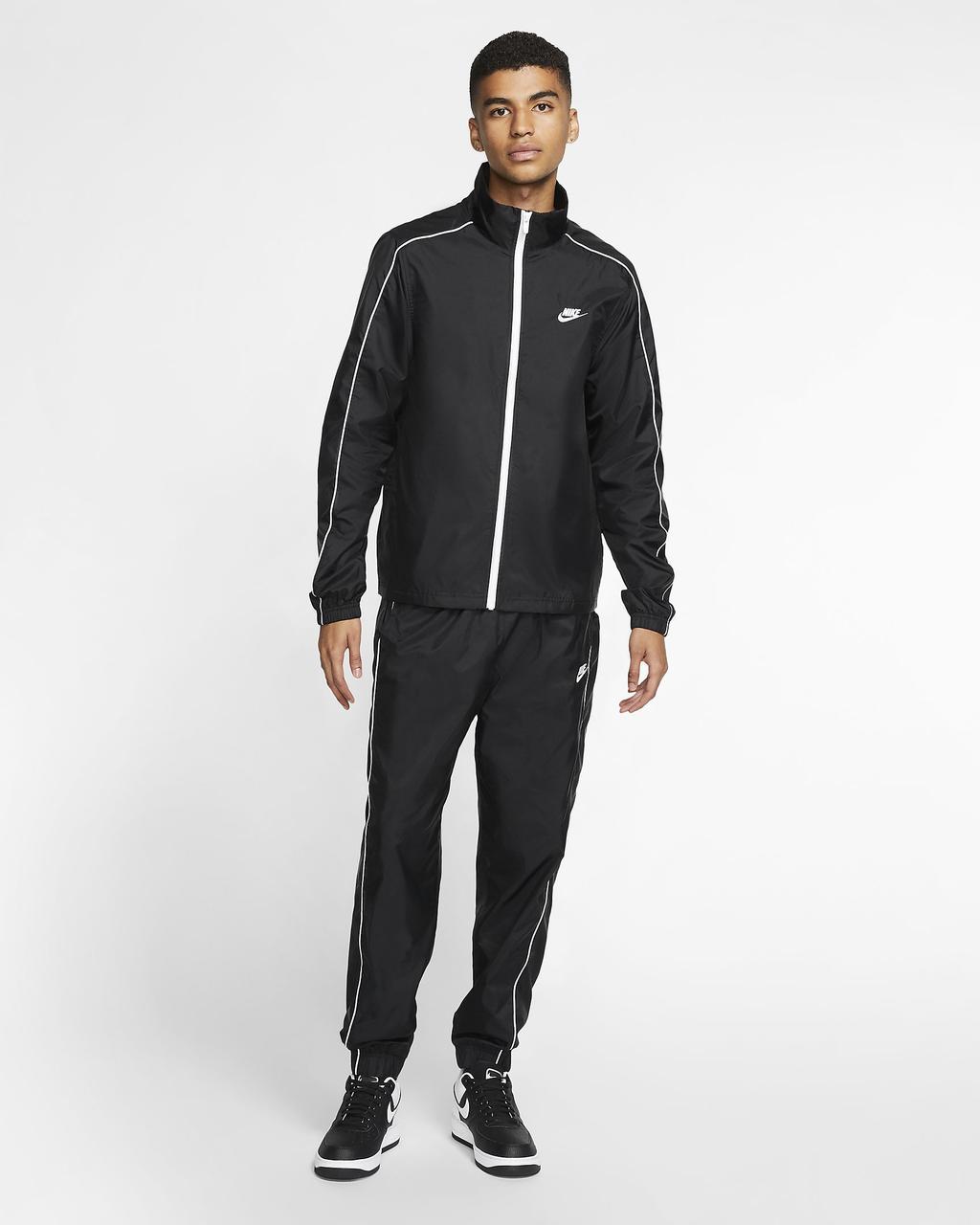 Спортивный костюм Nike NSW Tracksuit Woven Basic M BV3030-010 Черный