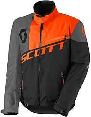 Куртка зимняя SCOTT COMP PRO black/orange off-road для езды на снегоходе, квадроцикле