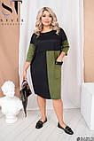 Платье футляр осень-весна с большим карманом, разные цвета р.48-52, 54-58, 60-64 Код 1256Х, фото 2