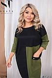Платье футляр осень-весна с большим карманом, разные цвета р.48-52, 54-58, 60-64 Код 1256Х, фото 3