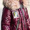 """Зимняя удлиненная куртка для девочки """"Милити"""" вишня, фото 5"""