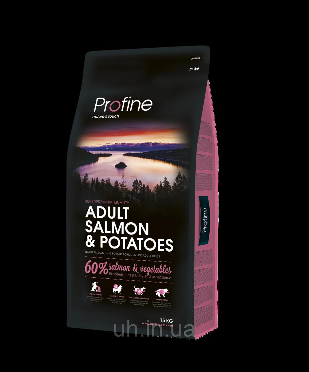 Profine Adult Salmon and Potatoes сухий корм для собак з лососем і картоплею 15КГ
