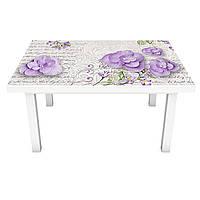 Наклейка на стіл Пелюстки Листи 3Д вінілова плівка ПВХ квіти Абстракція Бежевий 600*1200 мм