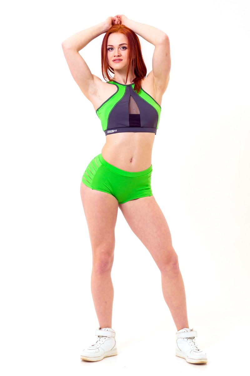 Трусы для Pole Dance Totalfit P1-C6 M зеленый