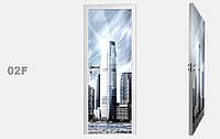 """Дзеркальна міжкімнатні двері серії """"Фото"""" фабрики Аксіома модель 02F"""