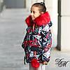 """Зимняя куртка для девочки """"Ливи"""" на меховой подстежке + маска в подарок, фото 2"""