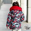 """Зимняя куртка для девочки """"Ливи"""" на меховой подстежке + маска в подарок, фото 4"""
