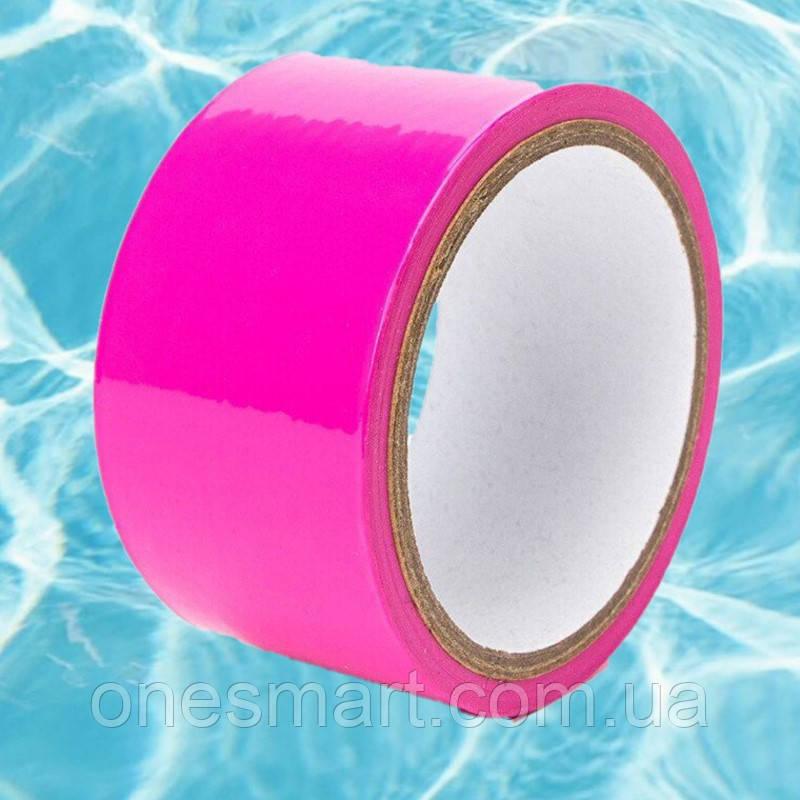 Спеціальна стрічка для бондажа темно-рожевого кольору, довжина 15 метрів