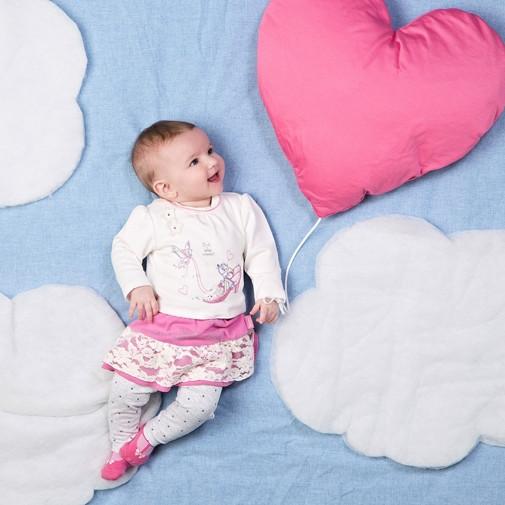 Детский комплект для девочки Одежда для девочек 0-2 BRUMS Италия 133BCEM010 молочный+розовый+серый 80, 1020