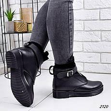 Черевики жіночі чорні, туфлі з НАТУРАЛЬНОЇ ШКІРИ. Черевики жіночі чорні з натуральної шкіри утеплені, фото 3