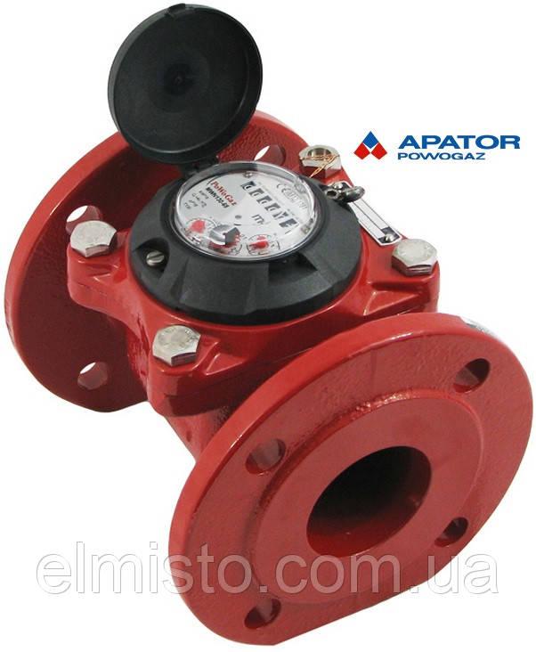 Счетчик Apator PoWoGaz MWN 130-65 (ГВ) горячей воды турбинный Ду-65 сухоход промышленный
