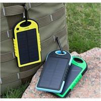 Универсальное зарядное Power Bank + Solar Panel 5000mAH