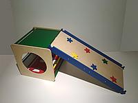 """Детский спортивный комплекс """"Кубик"""" с горкой-скалолазкой разноцветный в дом от 6 мес"""