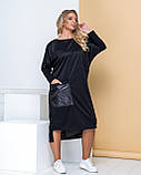 Платье-футляр с большим карманом, повседневный стиль р.48-52,54-58,60-64 код 1172Х, фото 5