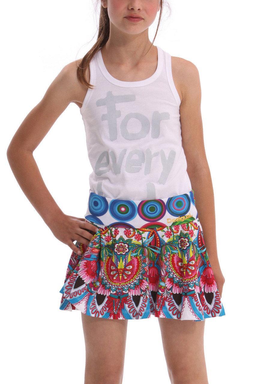 Детские юбки для девочки Desigual Испания 41F3231 белый 116, белый, 810