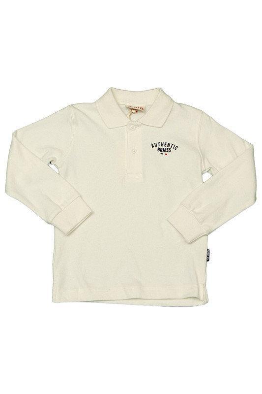Детское поло для мальчика Школьная форма для мальчиков BRUMS Италия 133BFFL007 молочный 140, 297