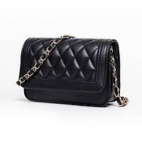 Мини сумка клатч женская, Мини сумка на плечо, Сумка из кожзама Черная  FS-6085-10, фото 1