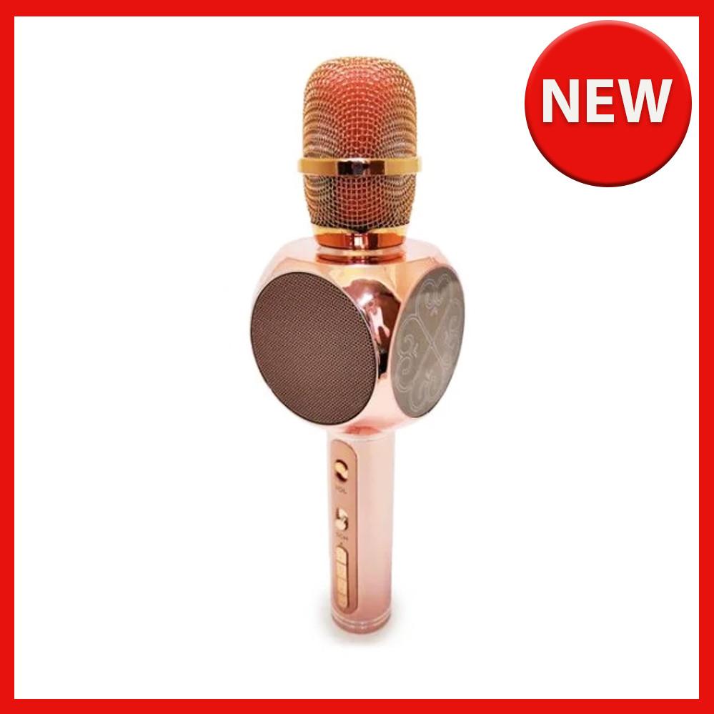 Караоке микрофон детский портативный беспроводной Bluetooth USB Розовый Rose Игрушка микрофоны для детей YS-63