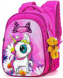 Рюкзак школьный для девочки ортопедический в 1-4 класс Пони Единогор Winner One R1-005