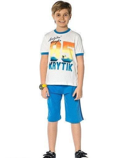Детский комплект для мальчика Krytik Италия 89056/KB/00A белый, синий 122