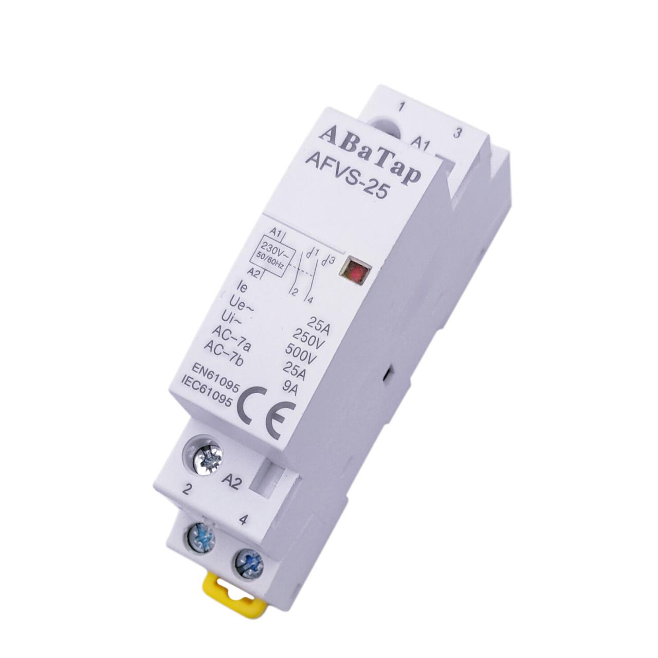 Контактор АВАТАР модульный на дин-рейку 2 полюса 2NO 25А (ST 425)