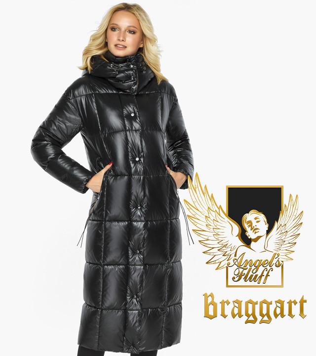 Воздуховик Braggart Angel's Fluff 42830| Куртка женская зимняя черная с капюшоном