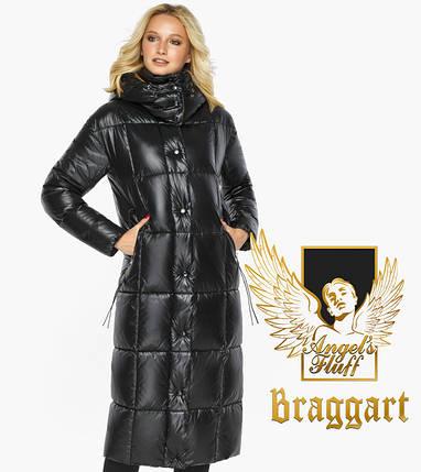 Воздуховик Braggart Angel's Fluff 42830| Куртка женская зимняя черная с капюшоном, фото 2