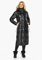 Воздуховик Braggart Angel's Fluff 42830| Куртка женская зимняя черная с капюшоном, фото 3