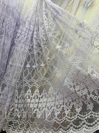 Фатиновый тюль Корт №615 белая, фото 2