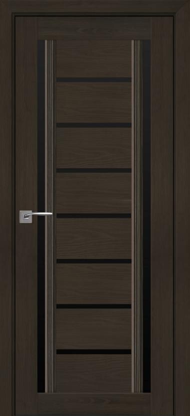 """Дверь межкомнатная остеклённая новый стиль Итальяно """"Флоренция С2 BLK,BR,GRF"""" 60-90 см жемчуг кофейный"""