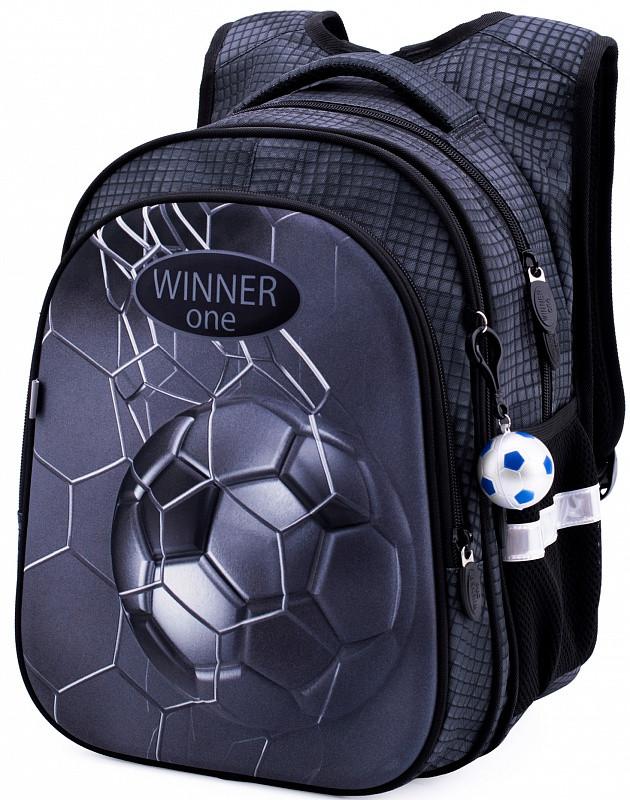 Рюкзак школьный ортопедический для мальчика в 1-4 класс Футбол Мяч Winner One R1-007