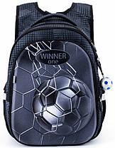 Рюкзак школьный ортопедический для мальчика в 1-4 класс Футбол Мяч Winner One R1-007, фото 2