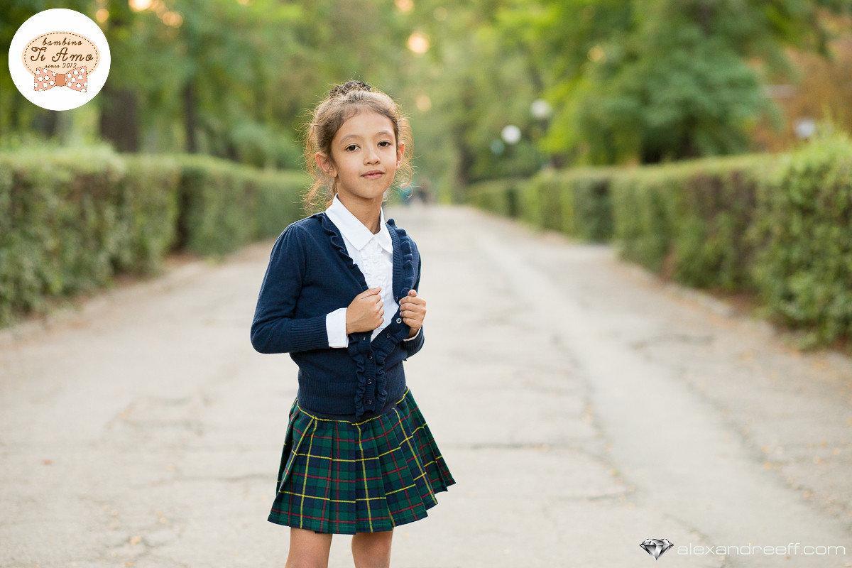 Школьная юбка для девочки Школьная форма для девочек Krytik Италия 84493/KB/00A синий,зеленый,желтый 122, 691