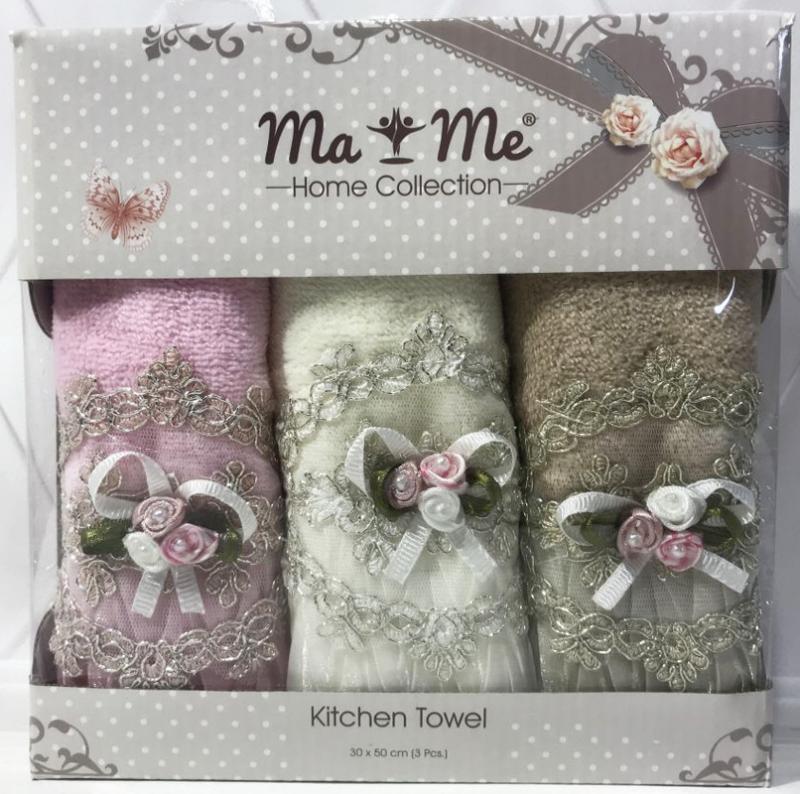 Набор 3 кухонных полотенца By IDO Anneli «Букет» 30х50см