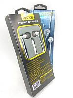 Гарнітура Aspor A205 (мікрофон,круглий шнур) White/silver